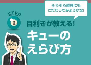 【STEP2】目利きが教える!キューのえらび方