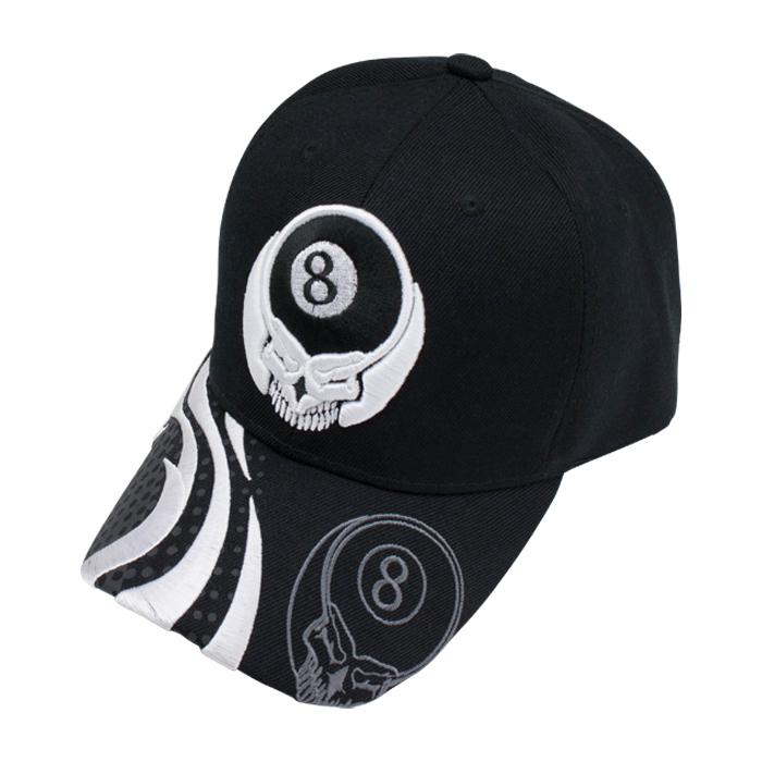 帽子 Black Hat/White Skull 8 Ball
